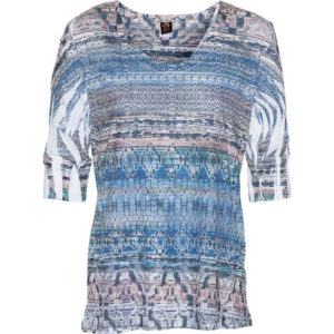 Burnout Relaxed Fit Vee – Lapis Blue Tribal