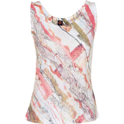 BURNOUT TANK – HOT CORAL GRANITE