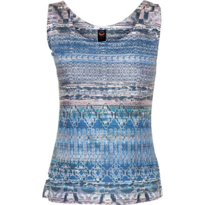 BURNOUT TANK – LAPIS BLUE TRIBAL