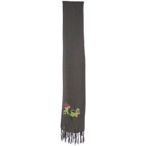 SCARF/WRAP – CHARCOAL MOPED