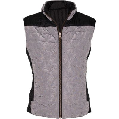 REVERSIBLE BISTRO VEST – GREY FROST/BLACK