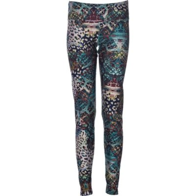 Globe-Trotter Leggings – Deep Sea Abstract