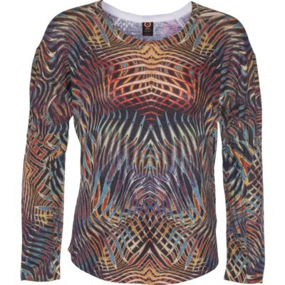 TRAVEL RELAXED CREWNECK – Multi Flames
