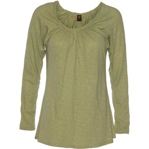 YOGA FITTED CROSS-OVER TOP – Sulfur