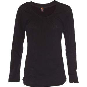 YOGA FITTED CROSS-OVER TOP – Black