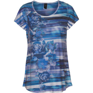 BURNOUT SCOOP NECK TEE – CHAMBRAY