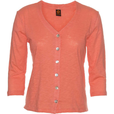 Chopped Cardigan – Coral