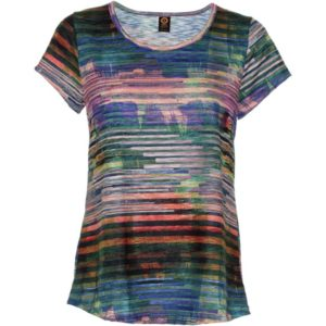 Slub Travel Tee – Blue Stripes
