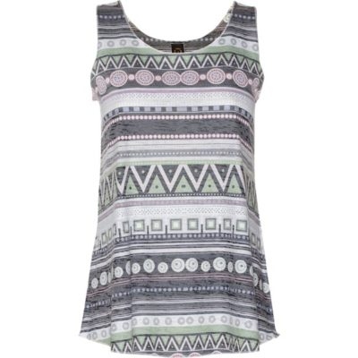 BURNOUT SUMMERTIME TANK – Charcoal Ethnic Stripe