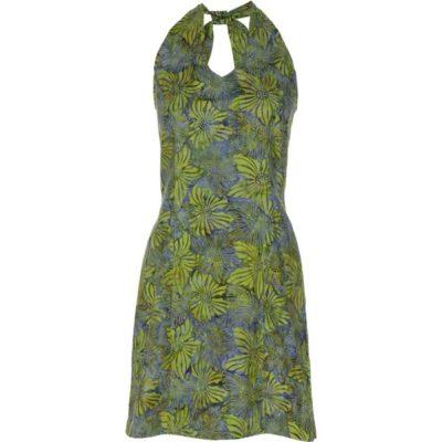 BATIK HALTER DRESS – Celery