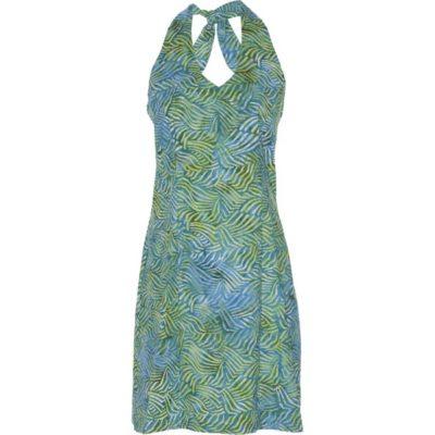 BATIK HALTER DRESS – Teal Blue