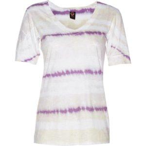 BURNOUT VEE – Violet Grunge Stripe