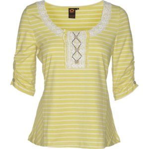 TRAVEL STRIPED TOP – Citron