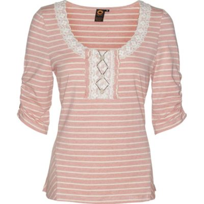TRAVEL STRIPED TOP – Tea Rose
