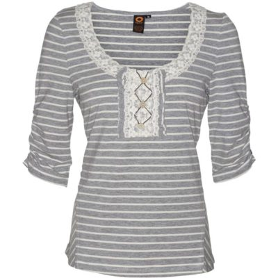 TRAVEL STRIPED TOP – Grey