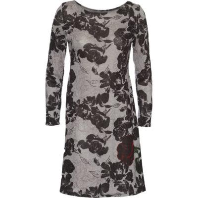 Travel Dress – Red Rose / Black / Grey