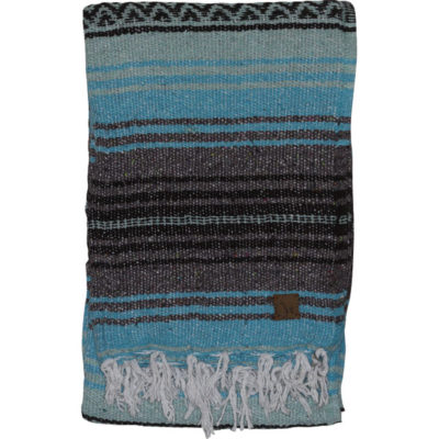 YOGA MEXICAN BLANKET – Turquoise